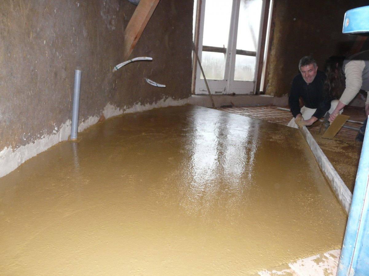Beton Floor clay concrete 2016 argilus clays plasters and eco building