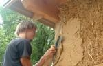 Enduit de Torchis ARGILUS - Application sur mur paille